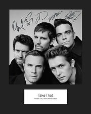 TAKE THAT #1 10x8 SIGNED Mounted Photo Print - FREE DELIVERY