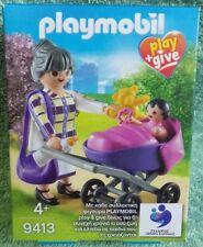 PLAYMOBIL 9413 la grand mère et sa petite fille PLAY & GIVE