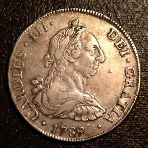 1789 PTS PR Bolivia Charles III 8 Reales - Scarce Date
