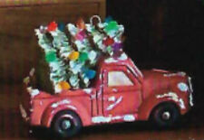 Ceramic Bisque~ Ready to Paint~ Vintage Truck~ Bringing Home the Tree ornament