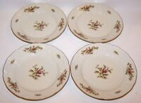 "STUNNING SET OF 4 ROSENTHAL GERMANY SANSSOUCI ROSE 6 3/4"" DESSERT/PIE PLATES"