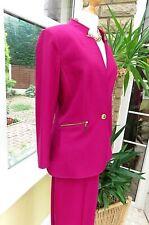 NWT schöne Tahari zeitgenössische Styled cerise pink Hose Suit SZ 12