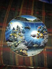 """Serenity of Waipio """"Underwater Paradise"""" Collector Plate by Robert Lyn Nelson"""