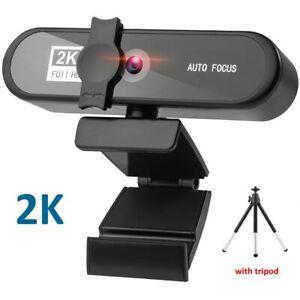 Webcam Conferentie Pc 2K Webcam Autofocus Usb Web Camera Laptop Desktop