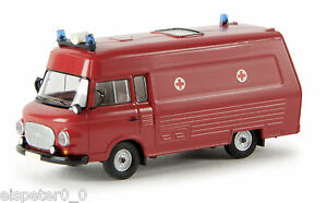"Barkas B 1000 SMH 3, ""Feuerwehr"" TD, H0 Auto Modell 1:87, Brekina 30405"