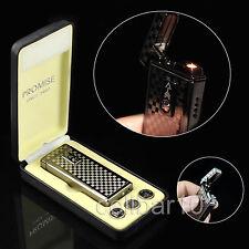 PROMISE Windproof Touch Sensitive Cigarette Lighter Refillable Lighter ,NEW BOX
