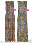 New Maxi Dress Paisley Print Floral Dresses Long Maxi Summer Size 8 10 12 14