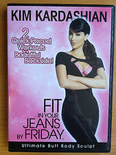 KIM KARDASHIAN~FIT IN YOUR JEANS BY FRIDAY~ULTIMATE BUTT BODY SCULPT~ AS NEW DVD