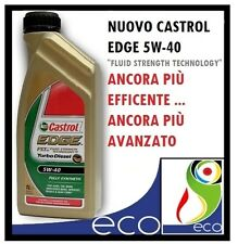NUOVO OLIO MOTORE CASTROL EDGE 5W40 TURBO DIESEL FLUID STRENGTH TECHNOLOGY 1L