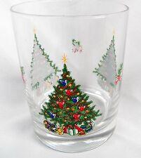 2 AVON CHRISTMAS TRADITIONS TREE CLEAR ROCKS GLASS ARCOROC