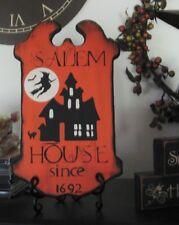 Primitive Halloween Sign Witch House Salem 1692 Orange/Black Tavern Style Sign