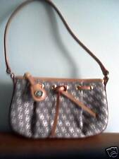 Dooney&Bourke Brown Signature CanvasTassel Zip Top Tote IT49-NWOT