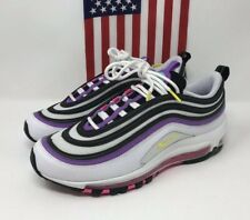 Nike Women's Air Max 97 Shoes White Black Purple Pink 921733-106 Size 7.5 NEW