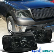 For 2004-2008 Ford F150 Style Headlights Head Lamps Smoke Pair Replacement