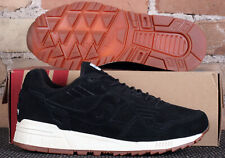 Saucony Shadow 5000 Black Leather White GumSole Low Running Shoes - Men's Size 8