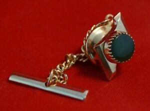 Vintage Green Jewel Tie Tack Pin