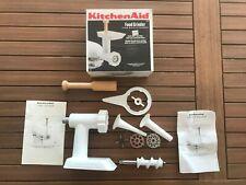 KitchenAid FGA Food Grinder Attachment - White w/ Sausage Stuffer Accessories