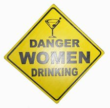 BEER WINE BOOZE SEX CAUTION DRUNKS PLAY FUNNY SIGN POOL TIKI BAR WOMEN DRINKING