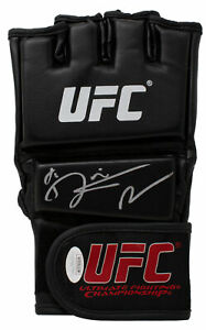 Dustin The Diamond Poirier Signed Black UFC Glove JSA ITP