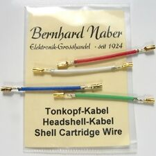 Analoges Headshellkabel Tonkopf-Kabel / Headshell Kabel Set NEU - Cable Wire new