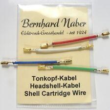 Analoges Headshellkabel Tonkopf-Kabel / Headshell Kabel Set NEU - Cable Wire new