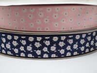 Grosgrain Flower Ribbon 25mm in 2m or 3m cut lengths - free postage