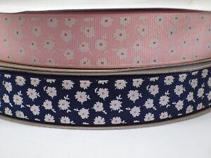 Grosgrain Flower Ribbon 25mm in 2m, 3m or 5m cut lengths - free postage