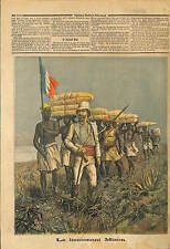 Lieutenant de vaisseau Antoine Mizon Congo Niger Africa 1892 ILLUSTRATION
