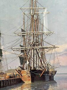 John Stobart Print - Nantucket Straight Wharf 1832 Signed # 706/ 750