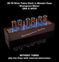 IN-18 Nixie Tubes Clock in Wooden Case Divergence Meter [WITHOUT TUBES] GRA&AFCH