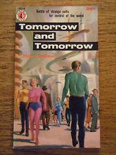 Ed McBain / Hunt Collins Tomorrow and Tomorrow Vintage PB Sci Fi Bob Lavin 1956