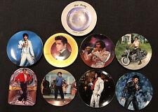 Elvis Presley Collector Plates (9 Plate lot) Bradford Exchange, Delphi