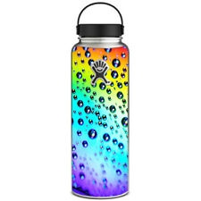 Skin Decal for Hydro Flask 40 oz Wide Mouth / Rainbow water drops