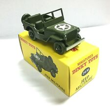 Miniatures Dinky Toys 24M Jeep Militaire Green alloy Diecast car Model 1/43
