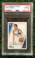 Luka Doncic 2018 Panini Sticker PSA 10 #217 POP 2 RARE ROOKIE #217 Only 2 Exist!