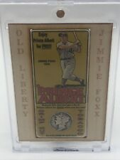 2014 Old Liberty Redemption Card #10 Jimmie Foxx 1935 Dime Prince Albert