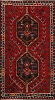 Tribal Hand-knotted Geometric Abadeh Area Rug Wool Oriental Foyer Carpet 3'x4'