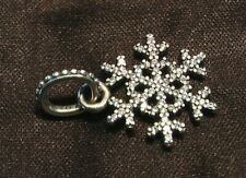 STERLING SILVER BROOCH SWAROVSKI CRYSTAL PENDANT SNOWFLAKE PANDORA CHARM JEWELRY