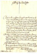Lettera Autografo Avvocato Andrea Poltri Amministrazione Fortezza di Siena 1689