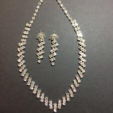 Wedding Jewellrey Set Diamante Necklace Earrings