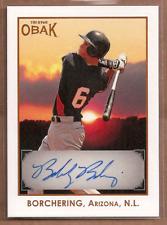 2011 TRISTAR Obak Autographs Brown #A5 Bobby Borchering 9/50 Auto