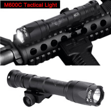 Tactical M600c Night LED Scout Light Rail Rifle Gun Flashlight 20mm Rail Mounted