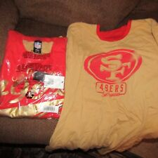 SAN FRANCISCO 49ERS NFL mens REVERSE TWO SIDED/logos Tshirt.SIZE 2XL/XXL.NEW.