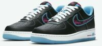 BRAND NEW Air Force 1 black Miami Vice Nights, multiple sizes (DD9183-001).