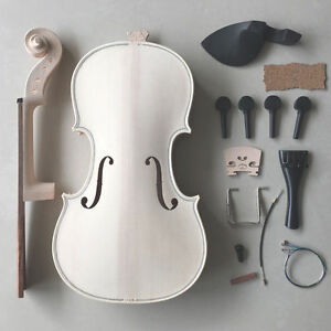 VIOLIN MAKING KIT, ALL PARTS INCLUDED, NEW, GREAT FOR HOME HOBBY, 4/4 FULL SIZE!