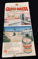 Gloss-Masta paint colour card brochure, c. 1960s Australia vintage mid-century