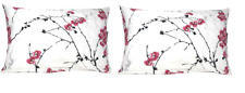 DaDa Bedding Set of Two Cherry Blossom White Pink Pillowcases Queen 20x30 - 2PCS