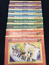 Alfred's Music for Little Mozarts Music - Lesson & Recital Books 1,2,3 & 4. Used