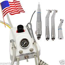USA Dental Portable Turbine Unit + High/Low Speed Handpiece Push/Latch Kit 4H