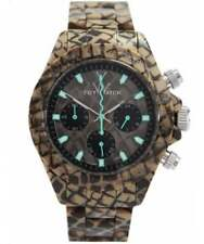 ToyWatch Company Fluo Extreme Reptile Snake Skin Patten Time Date Wristwatch NEW
